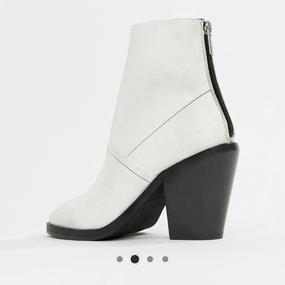 984df9986 ASOS Shoes | White Leather Sock Boots | Poshmark